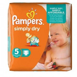 Pampers - 41 Couches Simply Dry taille 5 sur Les Couches