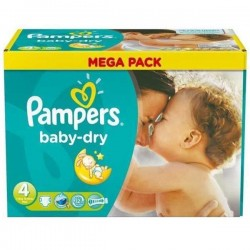 LesCouches Pack 44 couches Pampers Baby Dry