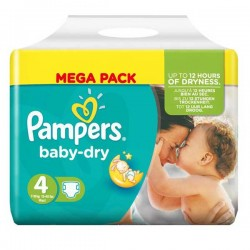 Pampers - 44 Couches Baby Dry taille 4 sur Les Couches