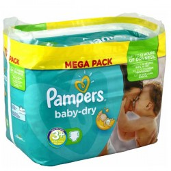 Pampers - 340 Couches Baby Dry taille 3+ sur Les Couches