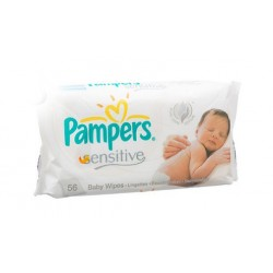 Pampers - 192 Lingettes Bébés Sensitive Baby - 3 Packs de 56 sur Les Couches