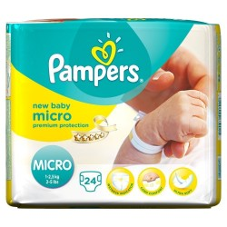 Pampers - 24 Couches New Baby Micro taille 0 sur Les Couches