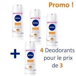 Nivea - 4 Deodorants Stress Protect - 4 au prix de 3 taille Pocket sur Les Couches