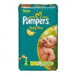 LesCouches Pack 72 couches Pampers New Baby Dry
