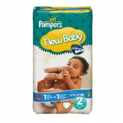 Pampers - 44 Couches New Baby taille 2 sur Les Couches