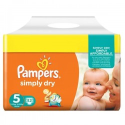 LesCouches Pack 32 couches Pampers Simply Dry