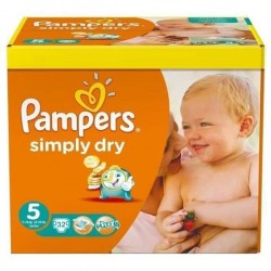 Pampers - 32 Couches Simply Dry taille 5 sur Les Couches