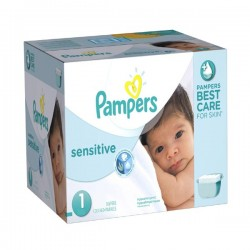 Pampers - 299 Couches New Baby Sensitive taille 1 sur Les Couches