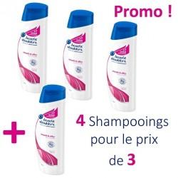 Head & Shoulders - 4 Shampooings Antipelliculaire Lisse et Soyeux - 4 au prix de 3 sur Les Couches