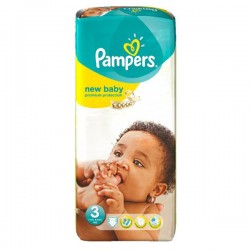 LesCouches Pack 74 couches Pampers New Baby