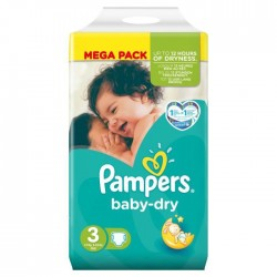 Pampers - 52 Couches Baby Dry taille 3