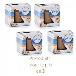 Febreze - 4 Bougies Parfumées Soothing Sandalwood - 4 au prix de 3 sur Les Couches