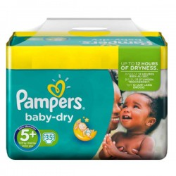 Pampers - 35 Couches Baby Dry taille 5+