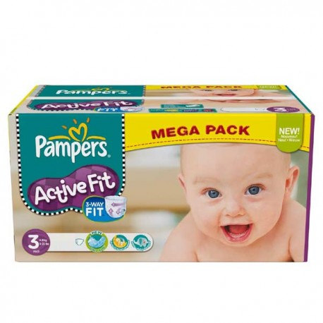 Pampers - 372 Couches Active Fit taille 3 sur Les Couches