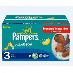 LesCouches Giga Pack 192 couches Pampers Active Baby