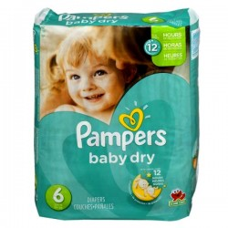 LesCouches Pack 33 couches Pampers Baby Dry