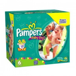 LesCouches Mega Pack 198 couches Pampers Baby Dry