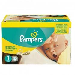 Pampers - 216 Couches New Baby taille 1 sur Les Couches