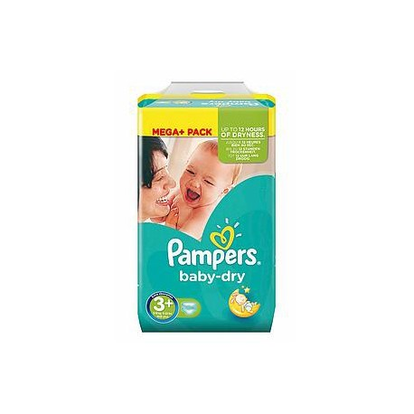 Pampers - 328 Couches Baby Dry taille 3+ sur Les Couches