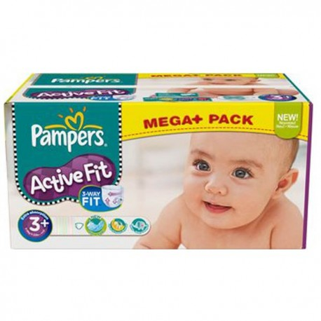 Pampers - 280 Couches Active Fit taille 3+ sur Les Couches