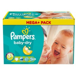 Pampers - 416 Couches Baby Dry taille 3 sur Les Couches