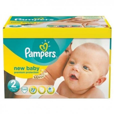 248 Couches Pampers New Baby Taille 2 à Petit Prix Sur Les Couches