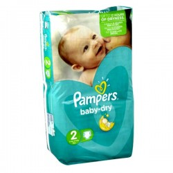 Pampers - 44 Couches Baby Dry taille 2