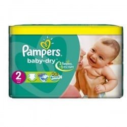Pampers - 252 Couches Baby Dry taille 2