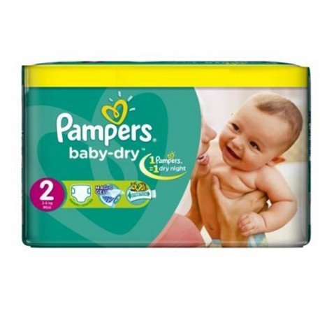 Pampers - 252 Couches Baby Dry taille 2 sur Les Couches