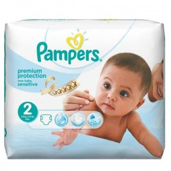 LesCouches Pack 28 couches Pampers New Baby Sensitive