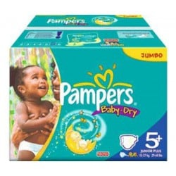 Pampers - 240 Couches Baby Dry taille 5+ sur Les Couches