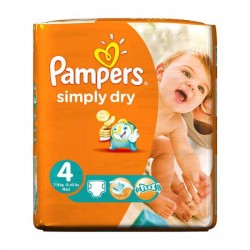 Pampers - 46 Couches Simply Dry taille 4 sur Les Couches
