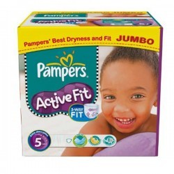 Pampers - 299 Couches Active Fit taille 5 sur Les Couches
