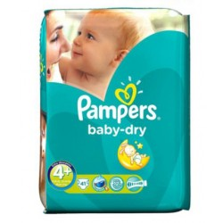 Pampers - 41 Couches Baby Dry taille 4+