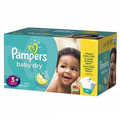 Pampers - 68 Couches Baby Dry taille 3+ sur Les Couches