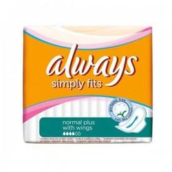 Always - 144 Serviettes hygiéniques Simply Fits taille NormalPlus sur Les Couches