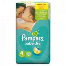 Pampers - 62 Couches Baby Dry taille 4 sur Les Couches