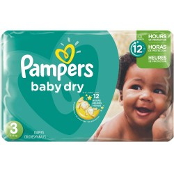 Pampers - 70 Couches Baby Dry taille 3 sur Les Couches