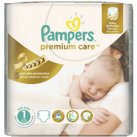 22 couches pampers premium care taille 1 moins cher sur. Black Bedroom Furniture Sets. Home Design Ideas