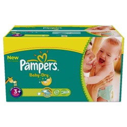 Pampers - 476 Couches Baby Dry taille 3+