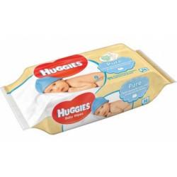 Huggies - 560 Lingettes Bébés Pure sur Les Couches