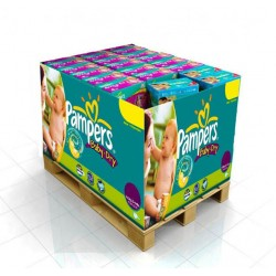 Pampers - 336 Couches Baby Dry taille 4+ sur Les Couches