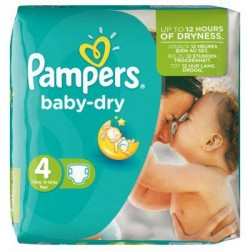Pampers - 46 Couches Baby Dry taille 4 sur Les Couches