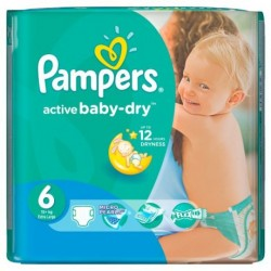 Pampers - 36 Couches Baby Dry taille 6 sur Les Couches