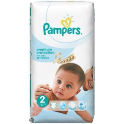 Pampers - 60 Couches New Baby Sensitive taille 2