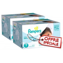 Pampers - 507 Couches New Baby Sensitive taille 1 sur Les Couches