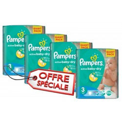 Pampers - 660 Couches Active Baby Dry taille 3 sur Les Couches