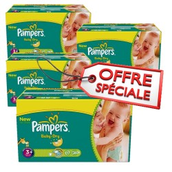 Pampers - 680 Couches Baby Dry taille 3+
