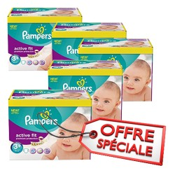 Pampers - 560 Couches Active Fit taille 3+