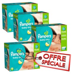 Pampers - 920 Couches Baby Dry taille 4 sur Les Couches